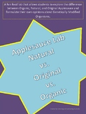 Natural vs. Organic vs. Orginal and GMO's Applesauce Lab