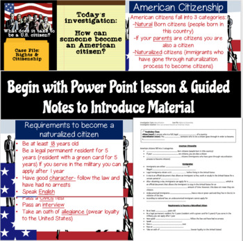 Naturalization Process Lesson and Board Game