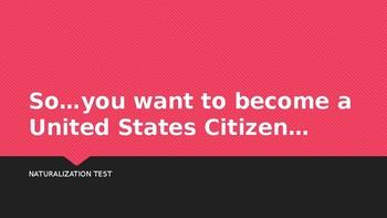 Naturalization - U.S. Citizen Test