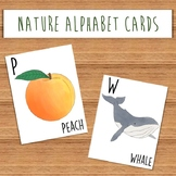 Nature Alphabet Cards