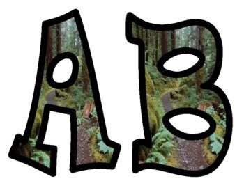 Nature Alphabet Letters