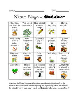 Nature BINGO - Full School Year