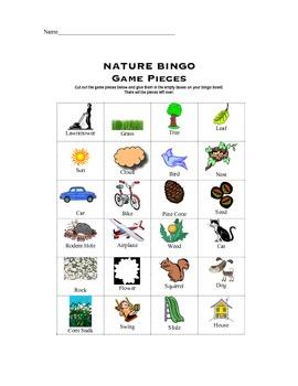 Nature BINGO game
