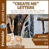 #loveliteracy Nature Based ABC Create Me Cards