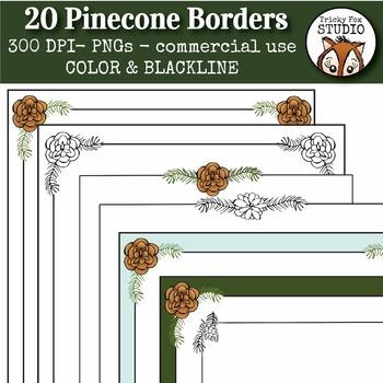 Nature Borders (Pinecone Borders)