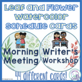 Nature Classroom Decorations Schedule Cards
