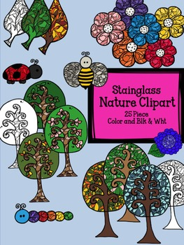 Nature Clipart Stain Glass Designs