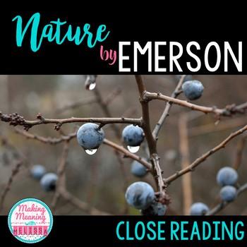 Nature Close Read - Emerson - Transcendentalism, High School