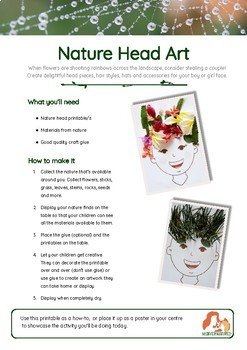 Nature Collage Heads - just add nature!