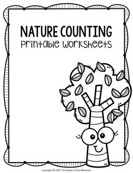 Nature Counting Printable Worksheets