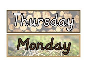 Nature Days of the Week Cards- DNealian