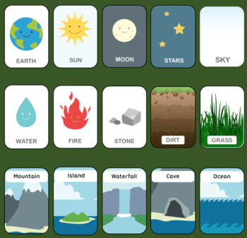 nature elements poster flashcards bingo worksheet by chris m. Black Bedroom Furniture Sets. Home Design Ideas