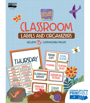 Nature Explorers Classroom Printable Labels and Organizers | 9781483849027