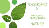 Nature Flash cards - English / Portuguese
