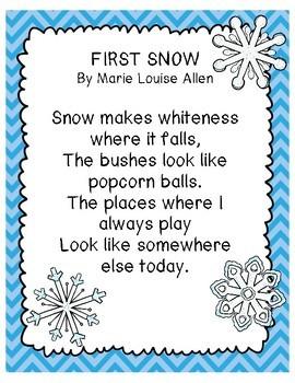 Nature Fluency Poems