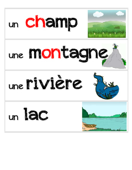 Nature - French Vocabulary Word Flashcards