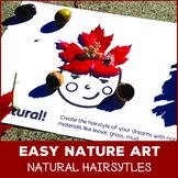 Nature Hair Art - Easy Natural Materials Art, Perfect for Fall
