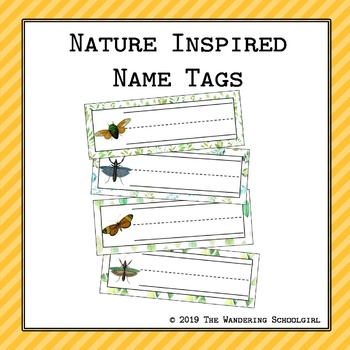 Nature Inspired Name Tags