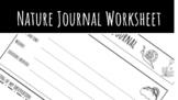 Nature Journal Worksheet For Kids k-8
