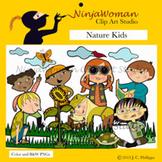Nature Kids Clip Art