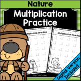 Nature Math Single Digit Multiplication Worksheets | Printable & Digital