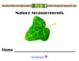 Bilingual Nature Measurements(Customary)/Medidas de naturaleza