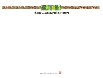 Bilingual Nature Measurements (Metric & Customary)/Medidas de naturaleza