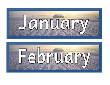 Nature Months of the Year Cards