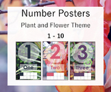 Number Posters 1 - 10- Plant and Flower Theme