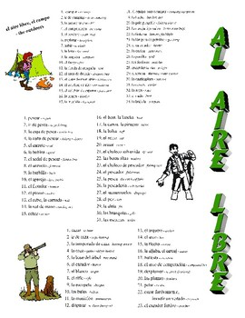 Nature, Outdoors, Weather, & Geography Spanish Vocabulary Pages
