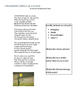 Nature Poetry/Transcendentalism Hands-On Writing