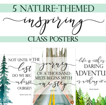Nature Posters, Inspiring Classroom Decor, Nature Decor