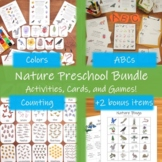 Nature Preschool Bundle: printable learning activities and