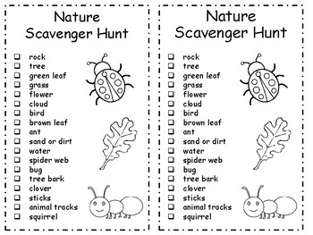 Scavenger Hunt List >> Nature Scavenger Hunt - Checklist - Premade and DIY by Melia Griffith