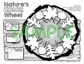 Nature Scavenger Hunt & Eye Spy & Nature Color Wheel