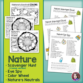 Nature Scavenger Hunt & Eye Spy & Nature Color Wheel