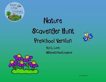 Nature Scavenger Hunt - Preschool Version