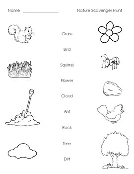 graphic relating to Nature Scavenger Hunt Printable named Character Scavenger Hunt Printable