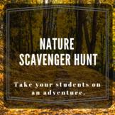 Nature Scavenger Hunt and Worksheet, Animal Adaptations, Human Impact, Plants