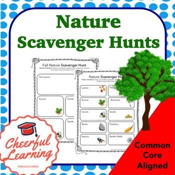 Nature Scavenger Hunts Common Core Aligned