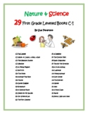 Nature & Science – Leveled Books: First Grade Pre-Primer Levels C - E