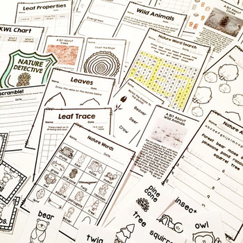 Nature Notebook (Nature Scavenger Hunt and MORE)