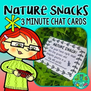 Nature Snack Task Cards {36 prompts to squeeze nature into your class routine!}