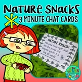 Nature Snack Task Cards {36 prompts to squeeze nature into