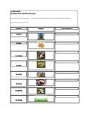 Nature Spanish Scavenger Hunt for Elementary Spanish