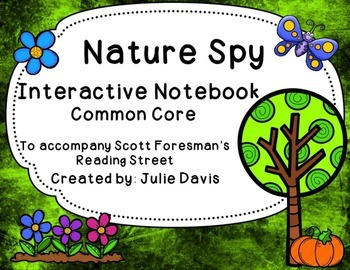 Nature Spy Interactive Notebook Journal Common Core