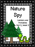 Nature Spy, Kindergarten, Centers and Printables, Reading Street