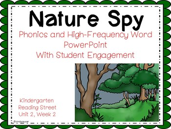Nature Spy, PowerPoint with Student Engagement, Kindergarten