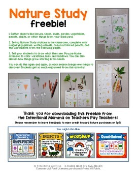 Nature Study Freebie