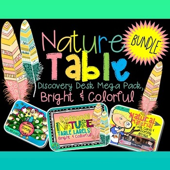 Nature Table Labels MEGA PACK {Bright & colorful}